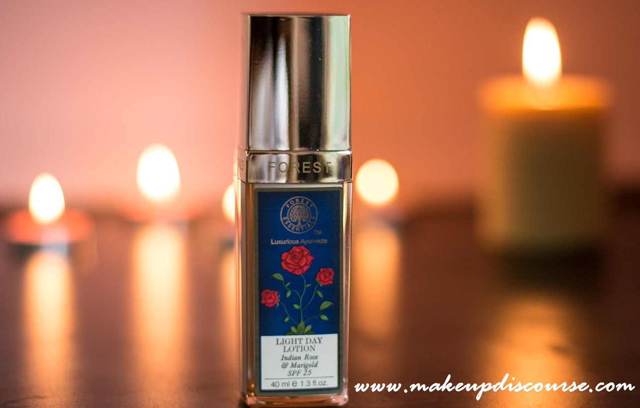 Forest Essentials Light Day Lotion Indian Rose & Marigold Review and Ingredient Analysis