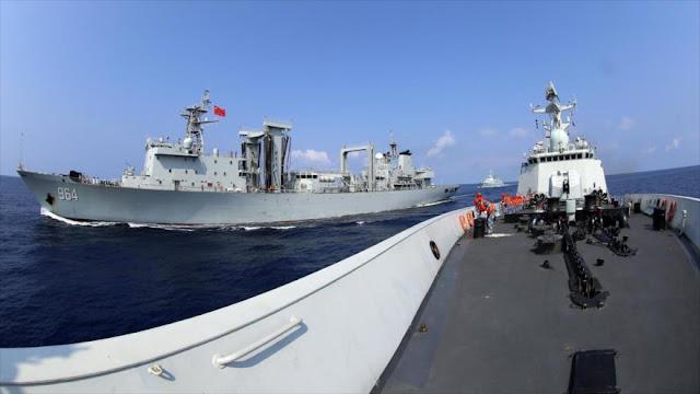 Armada china realiza ejercicios de fuego real en el Mediterráneo