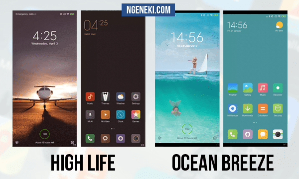 Tema High Life dan Ocean Breeze