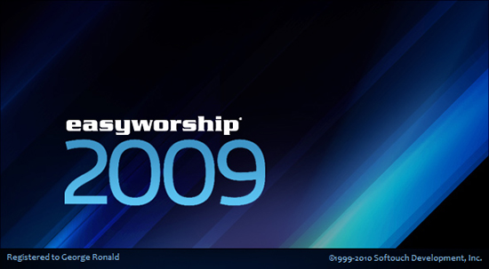 EasyWorship 2009 Build 2.4 Splashscreen