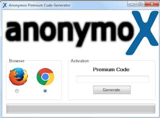 Anonymox Premium Code Generator