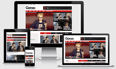 gonzo blogger template responsive fast free download