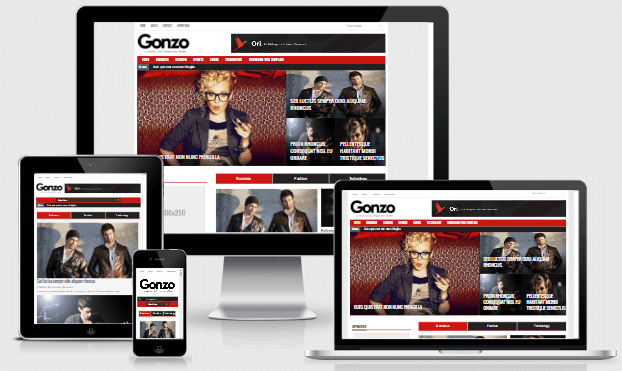 Gonzo responsive blogger template free