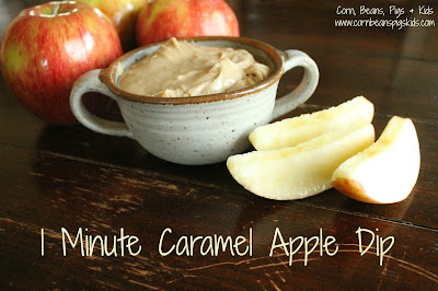 #AppleWeek 1 Minute Caramel Apple Dip