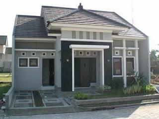 Tampak Depan Desain Rumah Ukuran 9x15 3 kamar