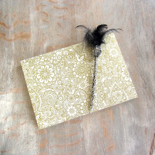 Gold and Cream Wedding Guest Book by Amy L. Burns