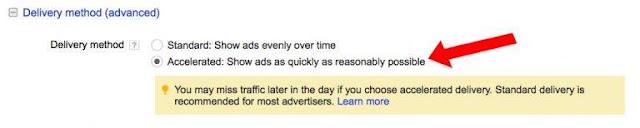 Để thay đổi phương pháp quảng cáo mạng hiển thị Google xoay vòng