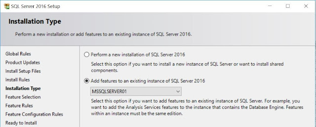 SQL Server - Installation Type