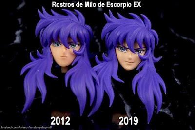 Comparativa de rostros de Milo de Escorpio EXclamation