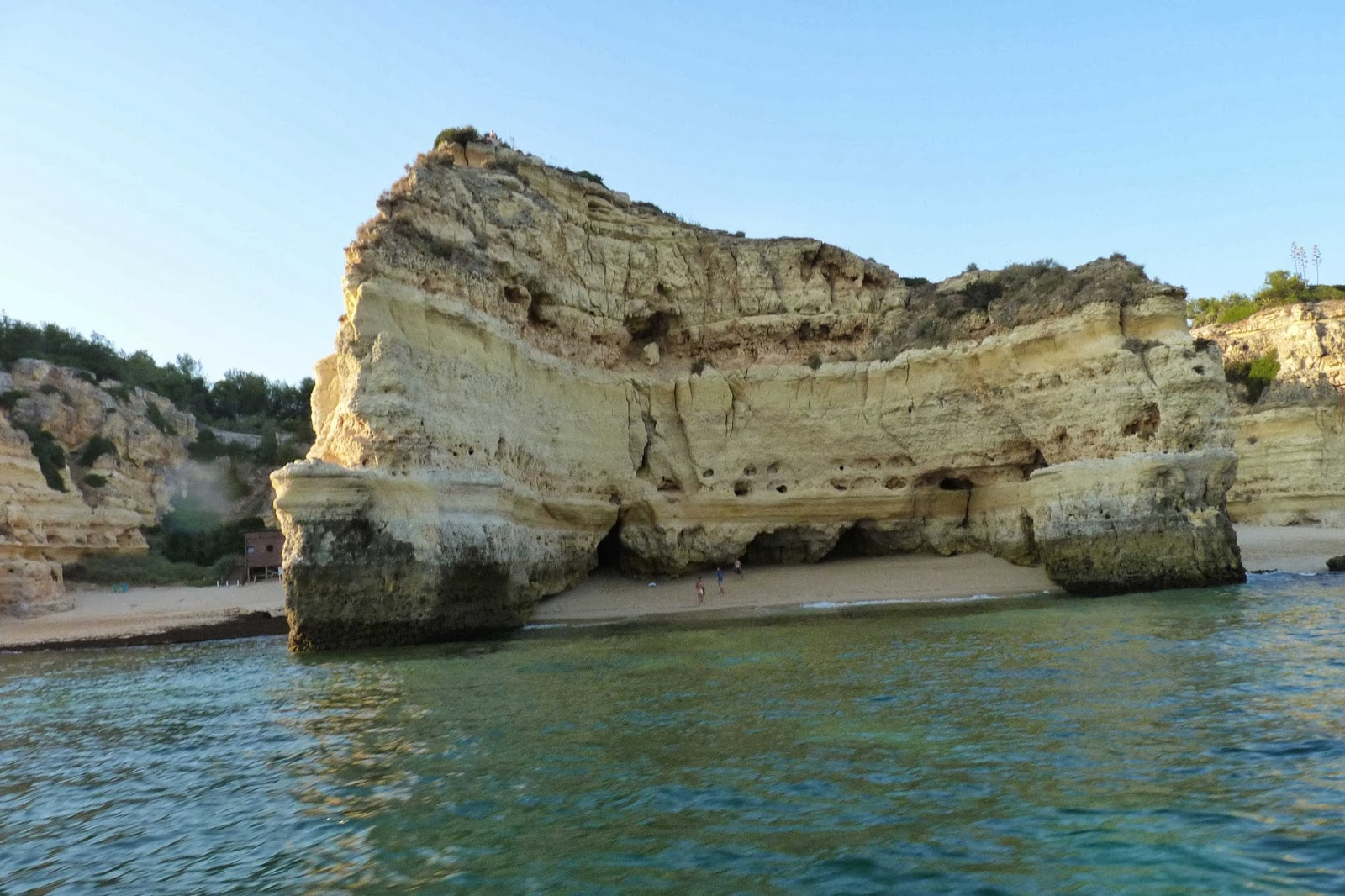 Paseo en barca, Playa Marinha.