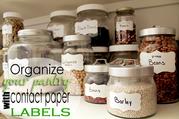 photograph relating to Printable Contact Paper referred to as Set up Your Pantry with Gl Jars and Get in touch with Paper (furthermore
