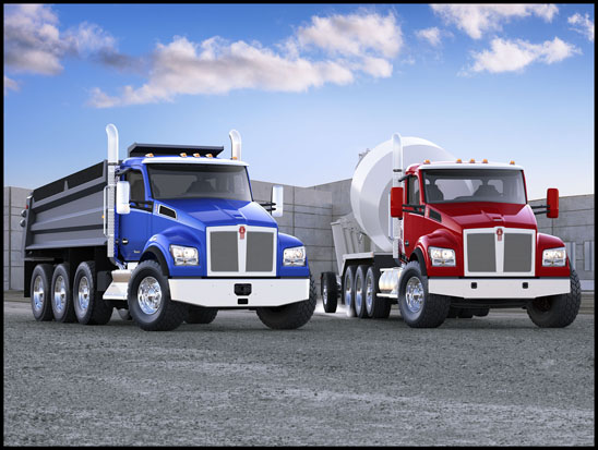 Kenworth T880S Mixer and T880S Dump Trucks