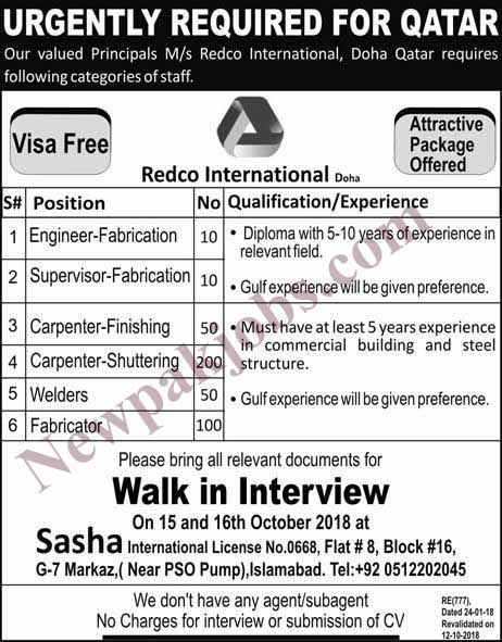 redco-international-jobs-for-qatar-13-oct-2018