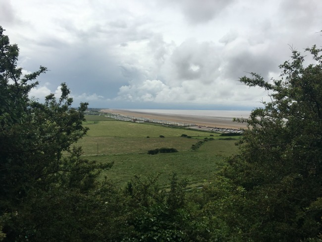 Mini-Breaks-and-Den-Building-view-of-Brean-from-path-going-up-to-Brean-down
