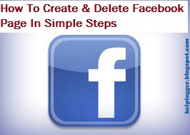 How to create and how to delete Facebook page