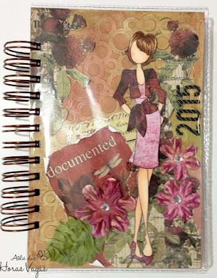 agenda artesanal personalizada femininia delicada scrapbooking
