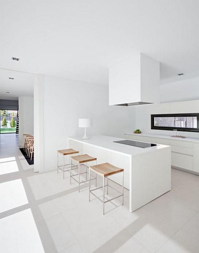 11 cocinas blancas modernas - Casas de madera blancas ...