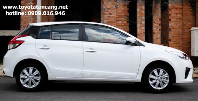 Toyota Yaris có kích thước tổng thể là 4115 x 1700 x 1475 (mm)