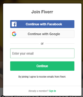 Cara Mendaftar Akun Fiverr