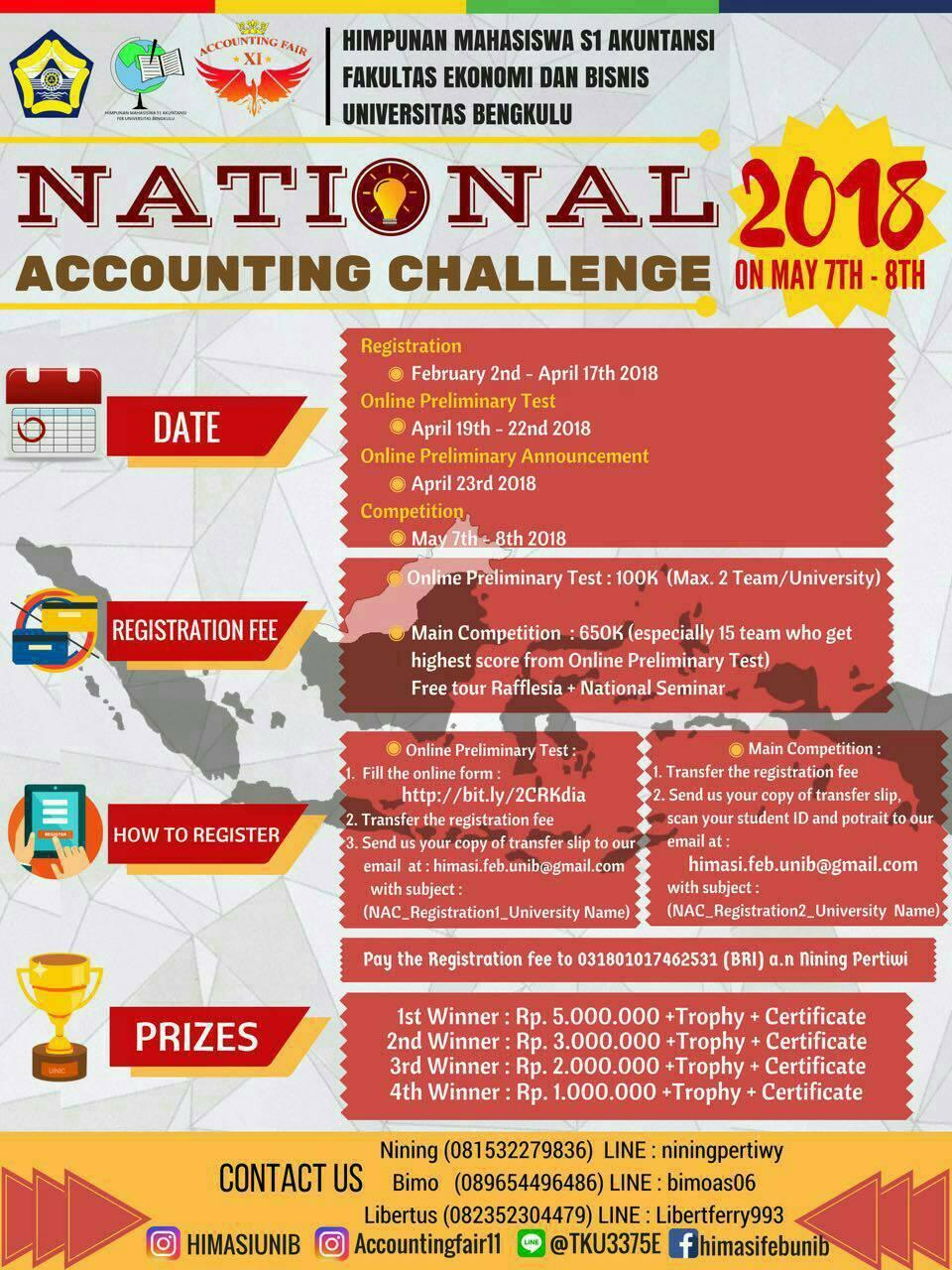 Lomba Akuntansi Challenge Nasional 2018 di UNIB