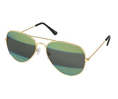 Silver Kartz Black Green Label Gradient Aviator Sunglasses