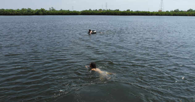 Tubing and Swimming in the Kampot river, Kampot, Cambodia