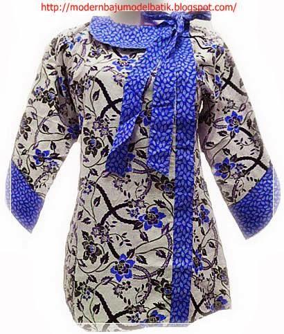 Contoh Model Baju Batik Kerja Wanita Penuh Warna