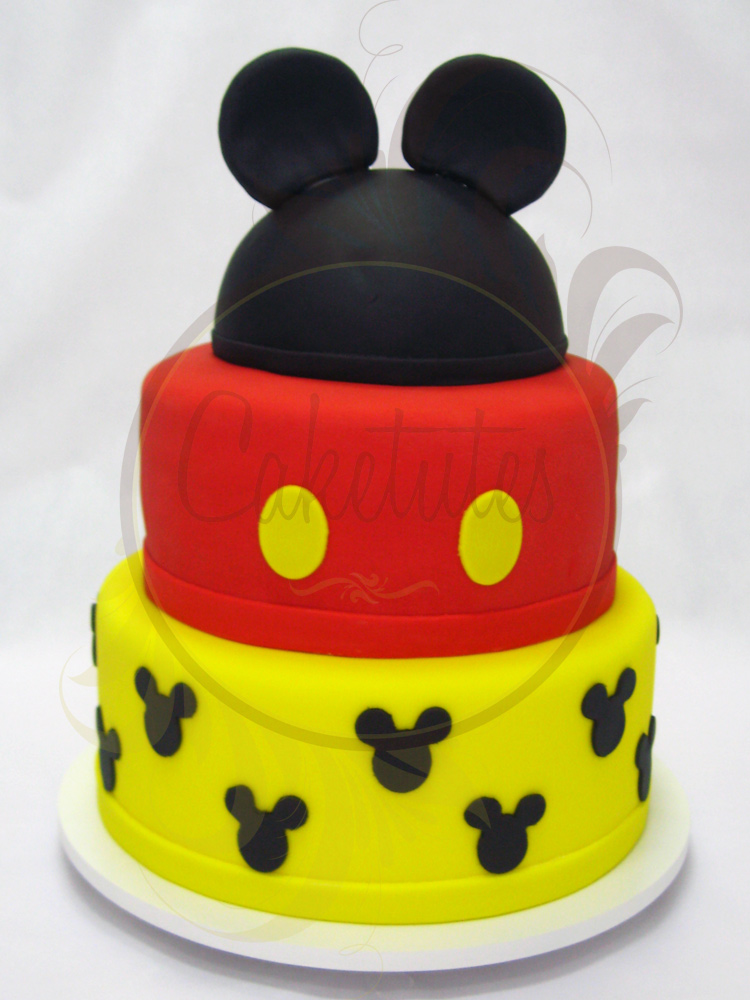 Caketutes Cake Designer Bolo Mickey Mouse