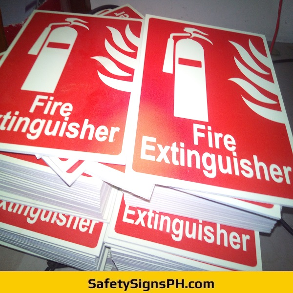 Sintraboard Fire Extinguisher Signs