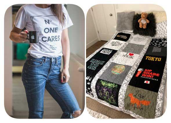 quilt, colcha, cubrecama, edredón,manta, reciclar camisetas, manualidades, costura