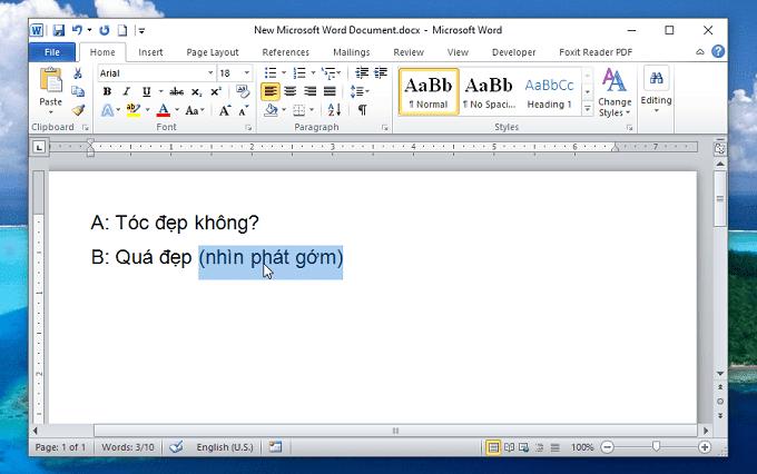 Bôi đen văn bản trong word - Ẩn và bỏ ẩn văn bản trong Word