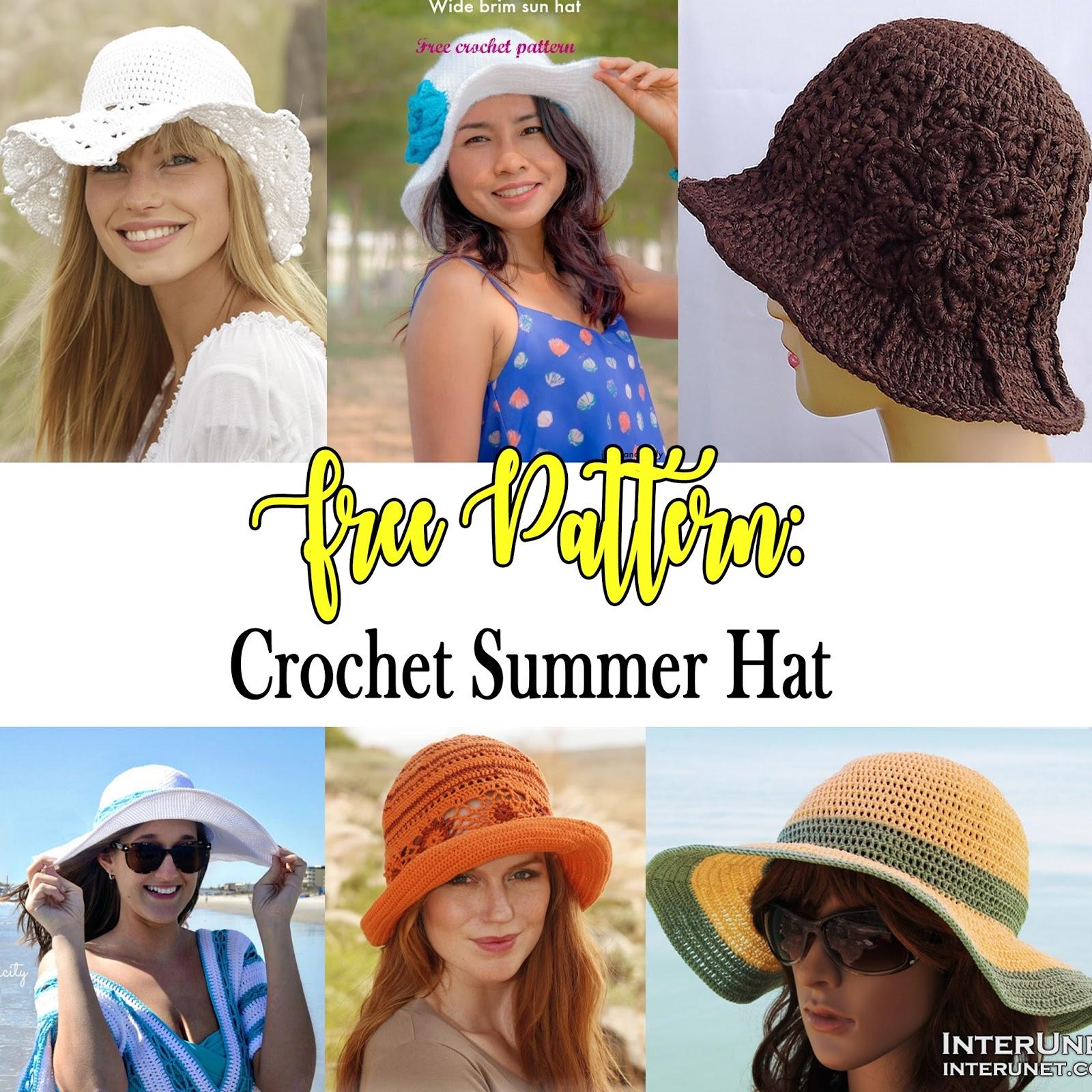 Si Nanay Madel: Free Patterns: Crochet Summer Hat