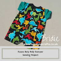 Peek-A-Boo Dinosaurs Roly Poly Romper Sewing Project