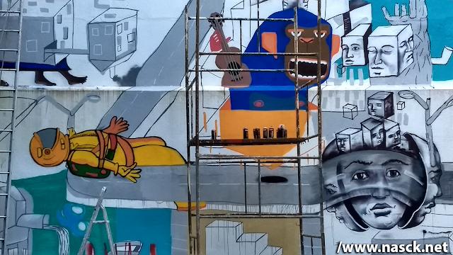 Mural coletivo - A Cidade Impossível
