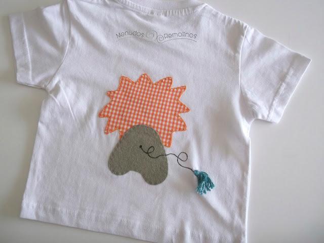Camiseta león naranja (parte trasera)