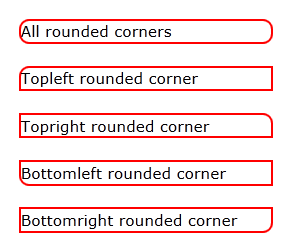 rounded corners border using CSS