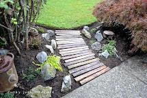 Pallet Wood Garden Walkwayfunky Junk Interiors