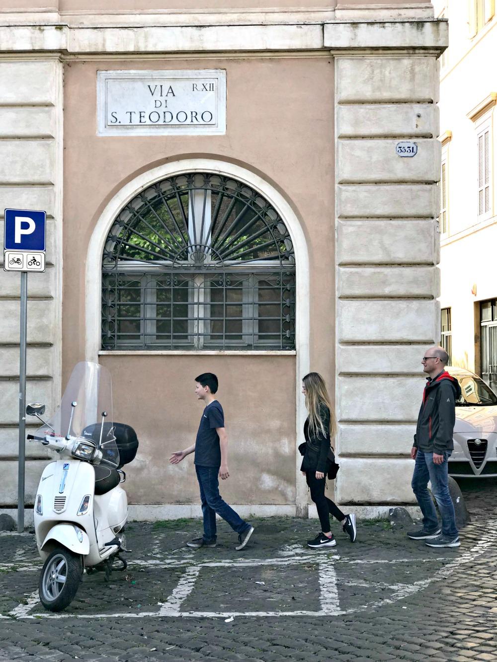 Via di S Teodoro street in Rome