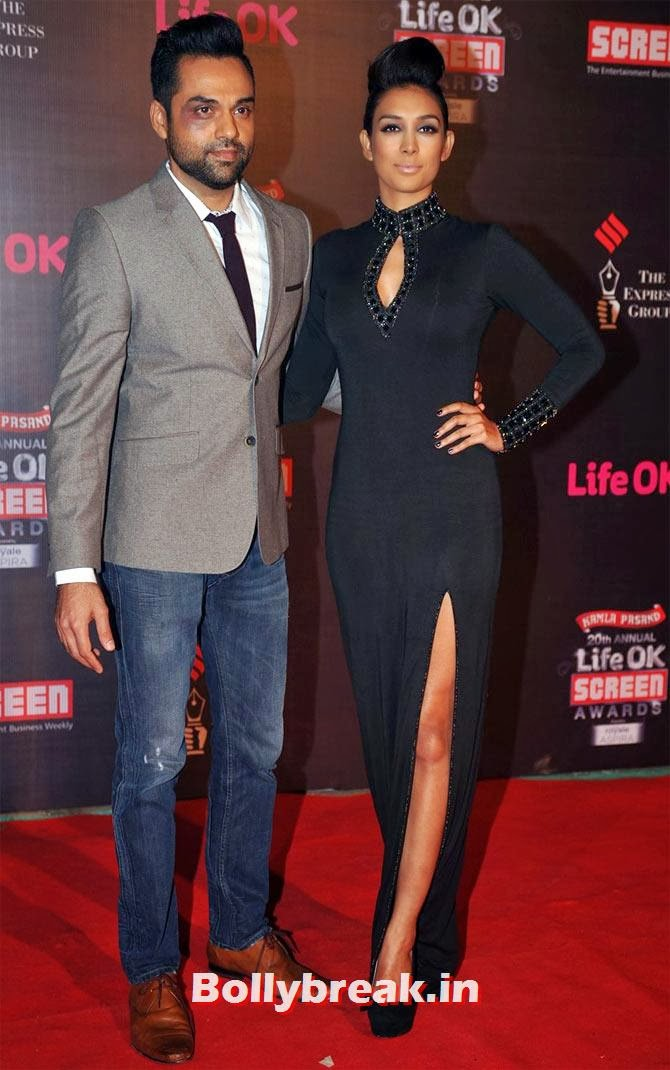 Abhay Deol and Preeti Desai, Life Ok Screen Awards 2014 Red Carpet Photos