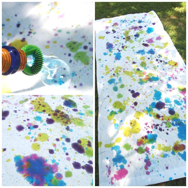 Tie Dye Technique: Bubble Blower Creating a fun MESS-FREE splatter effect