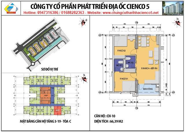 Sơ đồ thiết kế căn 10 chung cư B2.1 HH02C Thanh Hà Cienco 5
