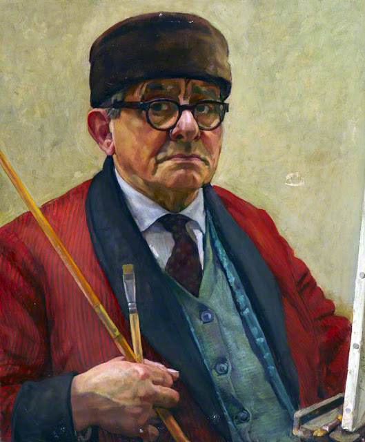 Eugen Hersch, Self Portrait, Portraits of Painters, Fine arts, Portraits of painters blog, Paintings of Eugen Hersch, Painter Eugen Hersch