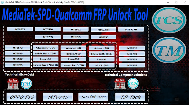 MediaTek SPD Qualcomm FRP Unlock Tool Free Download