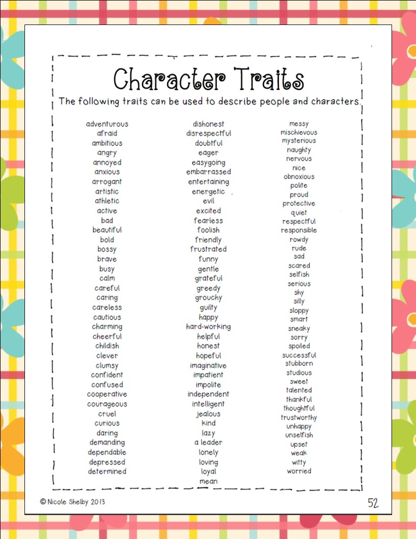 An Error Occurred.  Positive Character Traits