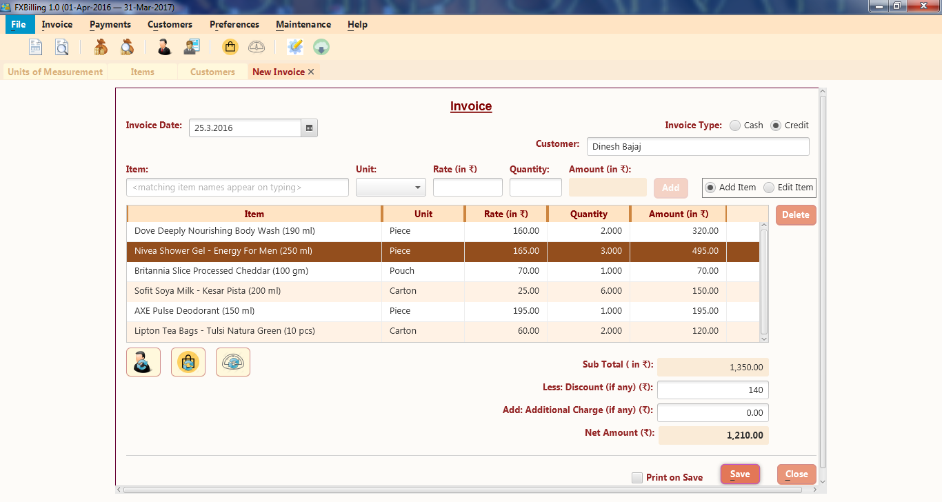 My Takes FXBilling A Free And Opensourced JavaFX Billing Application - Billing and invoice apps