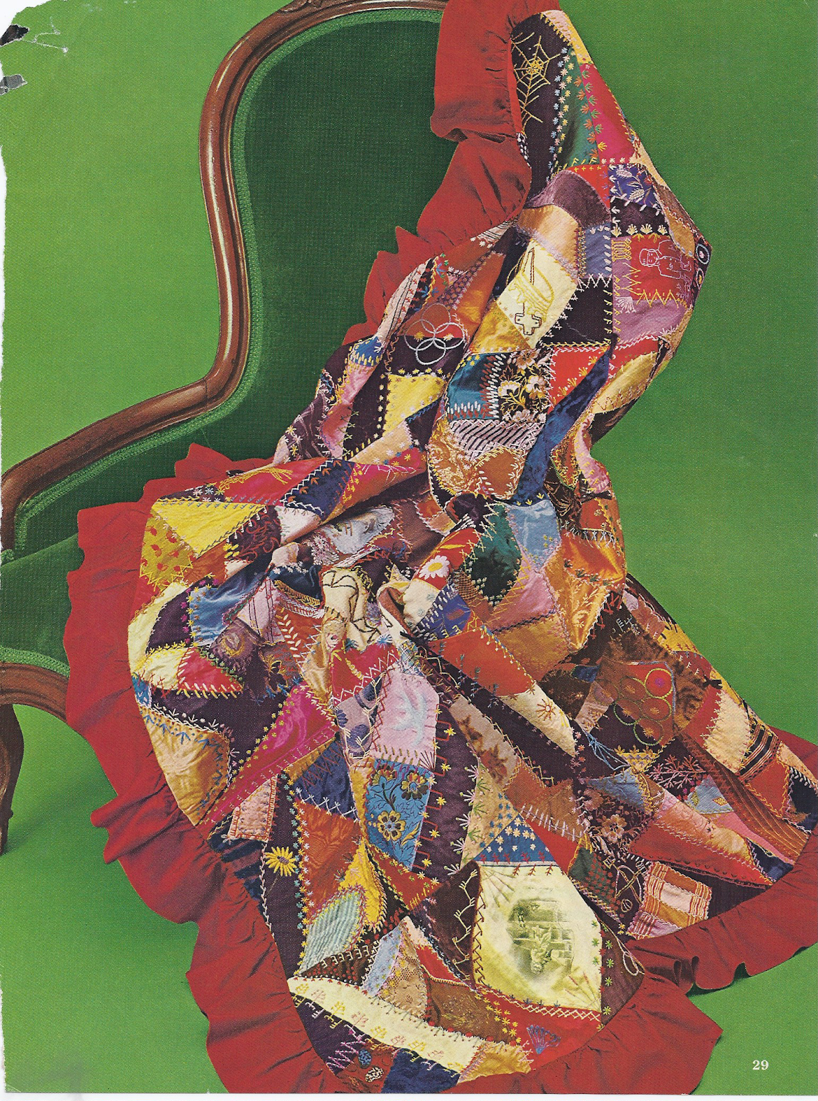 Beautiful crazy quilt