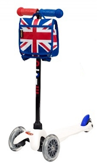 The Mini Micro White Union Jack Scooter Me The Man