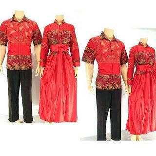 batik-pasangan-juwita-gamis-muslim-Merah