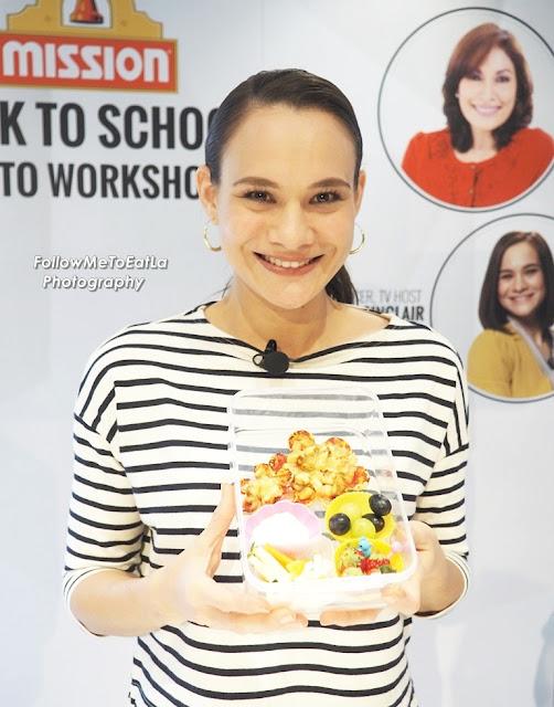 Celebrity Mom Aishah Sinclair Radio Announcer, TV Host  Recipe ~ Mission Flower Pizza Bento