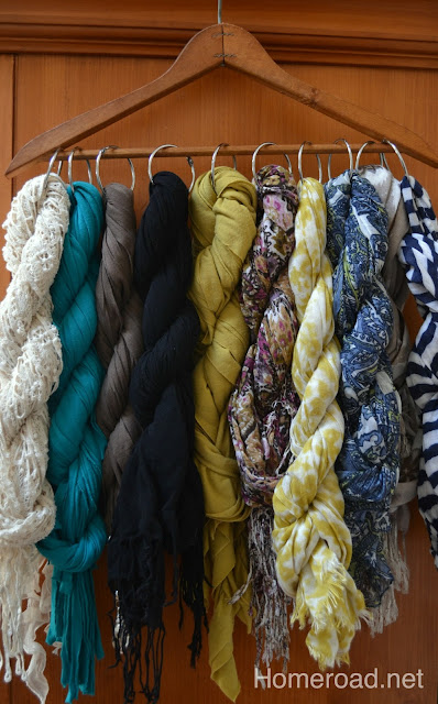 How to create beautiful vintage scarf organization www.homeroad.net
